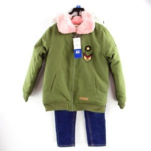 New David Bitton 3 PIece Jacket Top Pants Set
